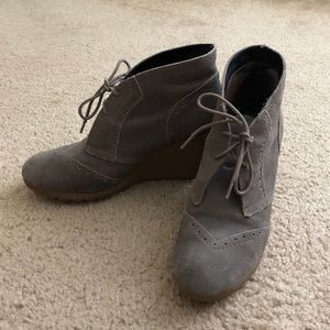 Mia wedge ankle booties